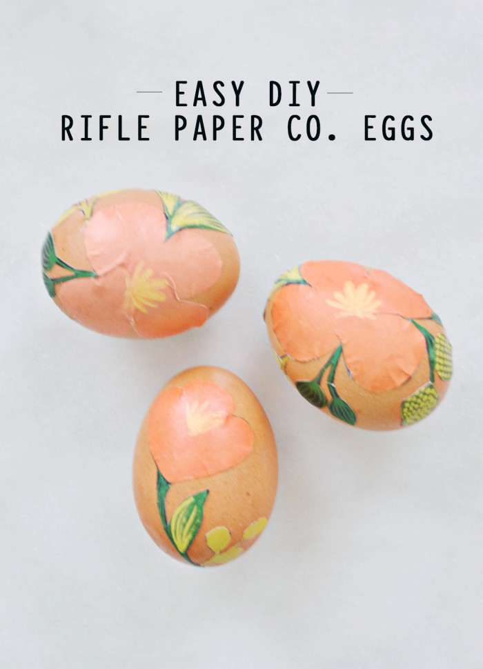 Easy DIY Rifle Paper Co. Easter Eggs @ajoyfulriot