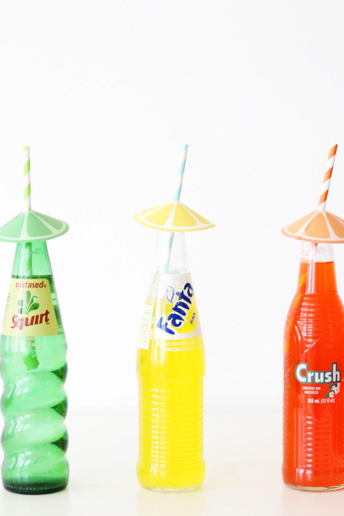 picture regarding Printable Umbrellas referred to as Citrus Straw Umbrellas Absolutely free Printable A Happy Rebel