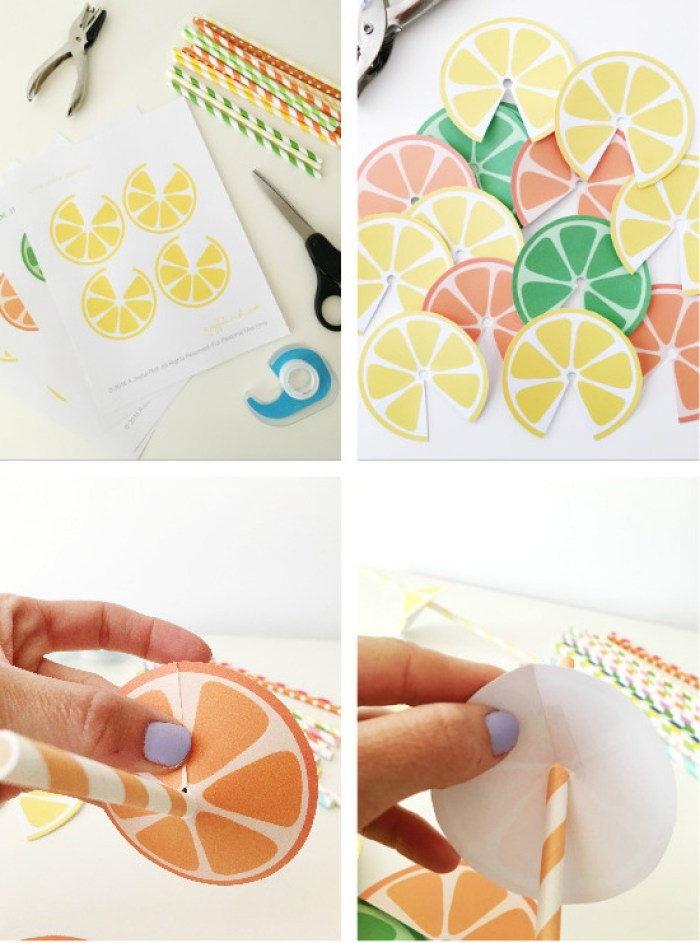 Citrus Straw Umbrella free printables from @ajoyfulriot-24