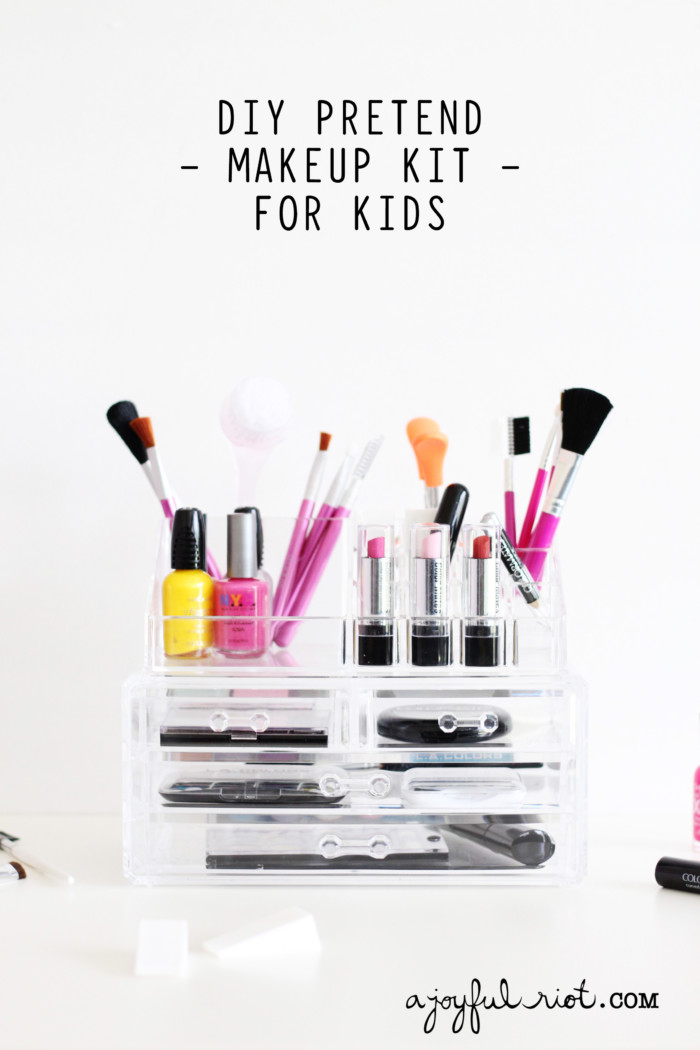 Diy Pretend Makeup Kit Kids Joyful Riot