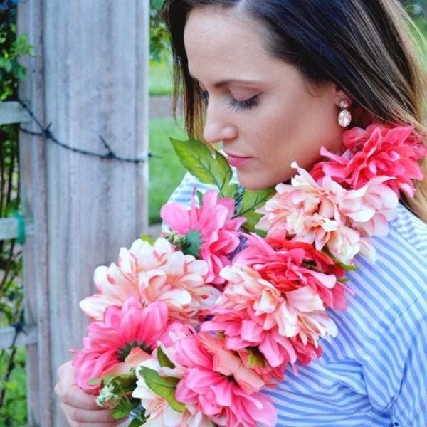 DIY fresh flower leis
