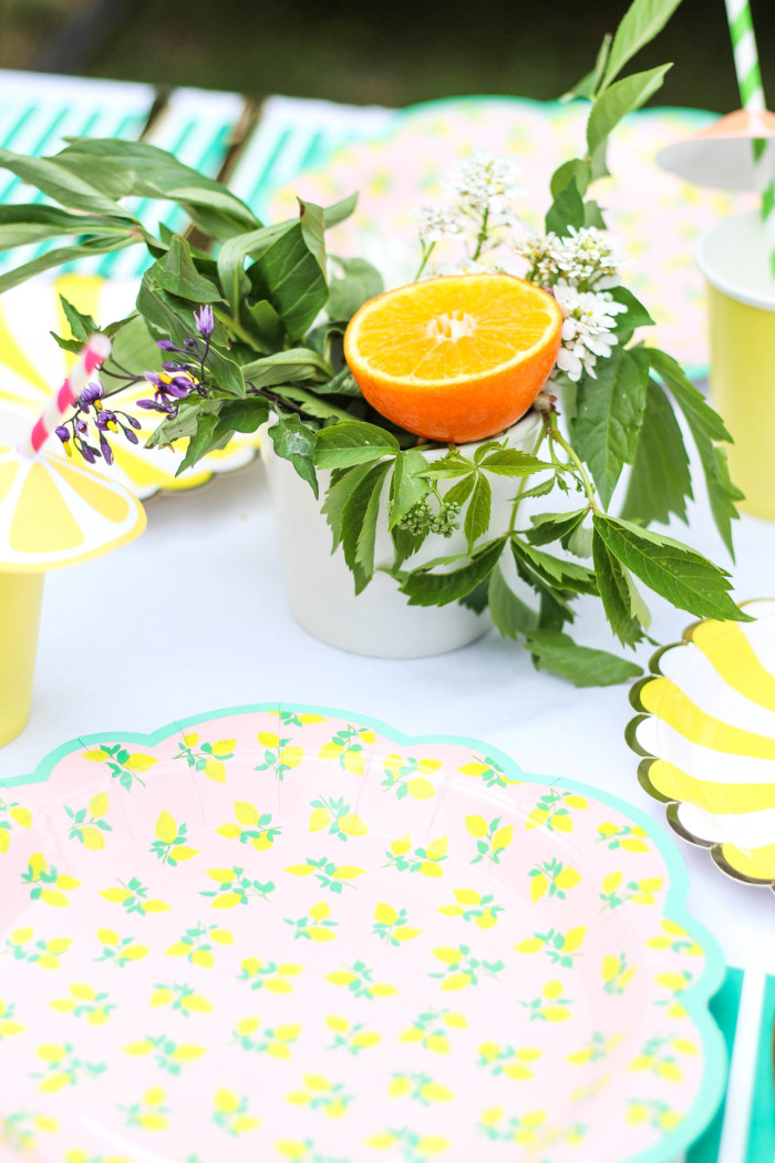 Vintage Citrus Floral Birthday Party via ajoyfulriot.com-19