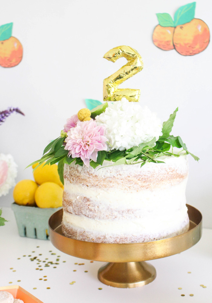 Vintage Citrus Floral Birthday Party via ajoyfulriot.com-6