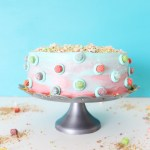Berry Colossal Crunch with Marshmallows Cake & How to Marble Frosting!