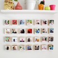 Turn your instagrams into polaroid-like prints with this free template and then create a unique wall display of your favorite photos with this block DIY
