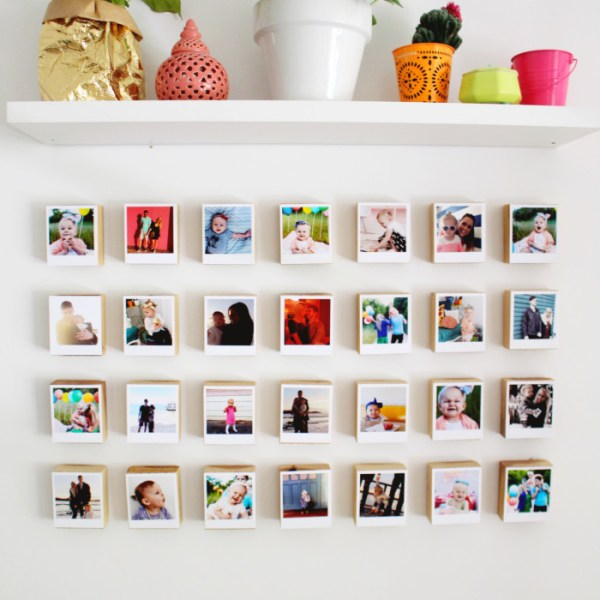 Instagram Polaroid Block Gallery Wall {Revisited}