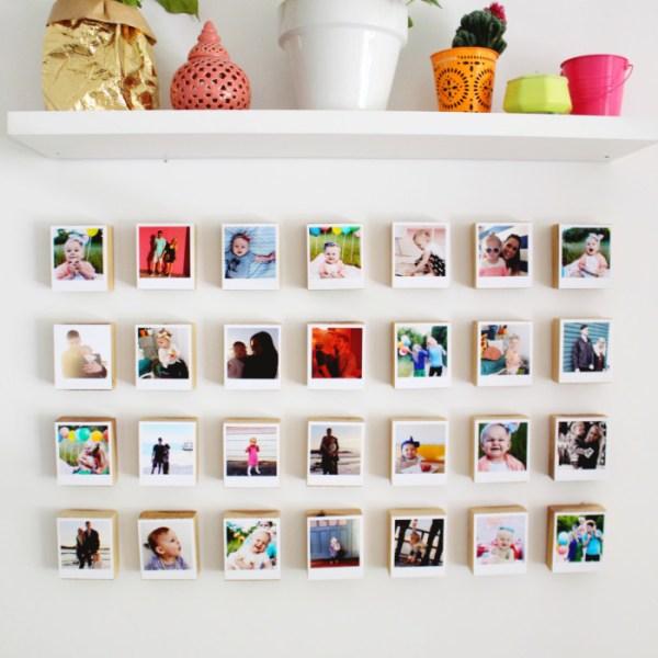 Instagram Polaroid Block Gallery Wall {Revisited}