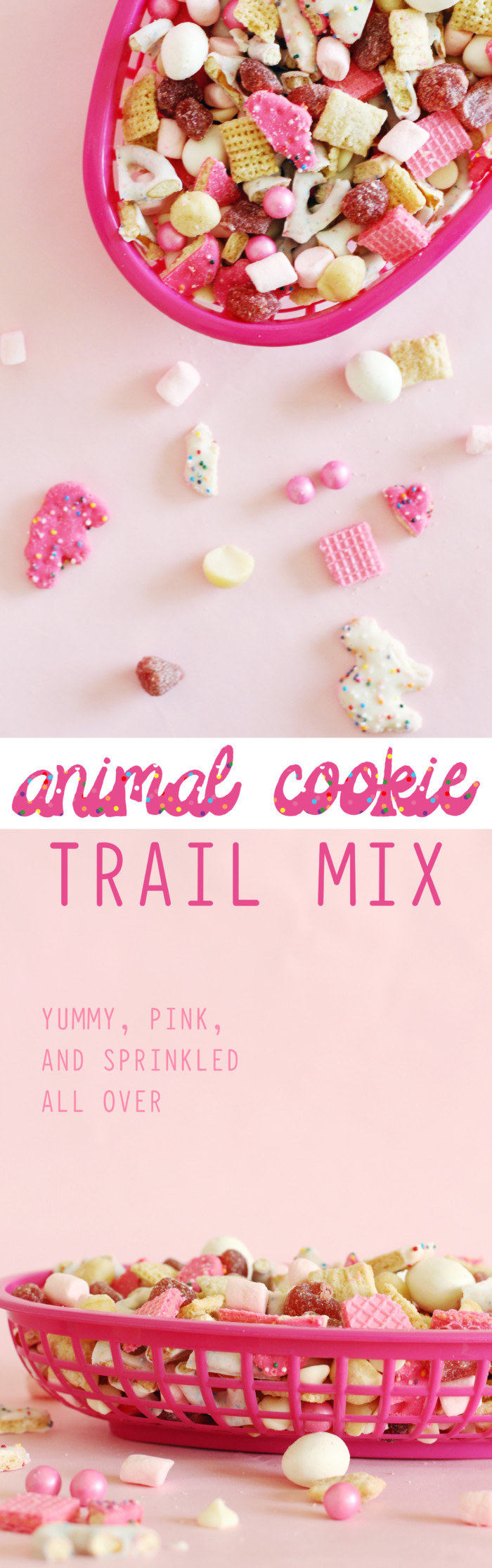Animal cookie Trail Mix is the perfect snack mix to take along anywhere, especially with littles in tow! recipe via ajoyfulriot.com