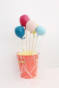 Make your halloween pumpkins look like balloons for a whimsical take on your fall decor! | A Joyful Riot