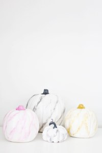 er your fall decor a totally chic makeover by marbling them | DIY Marble Pumpkins | A Joyful Riot