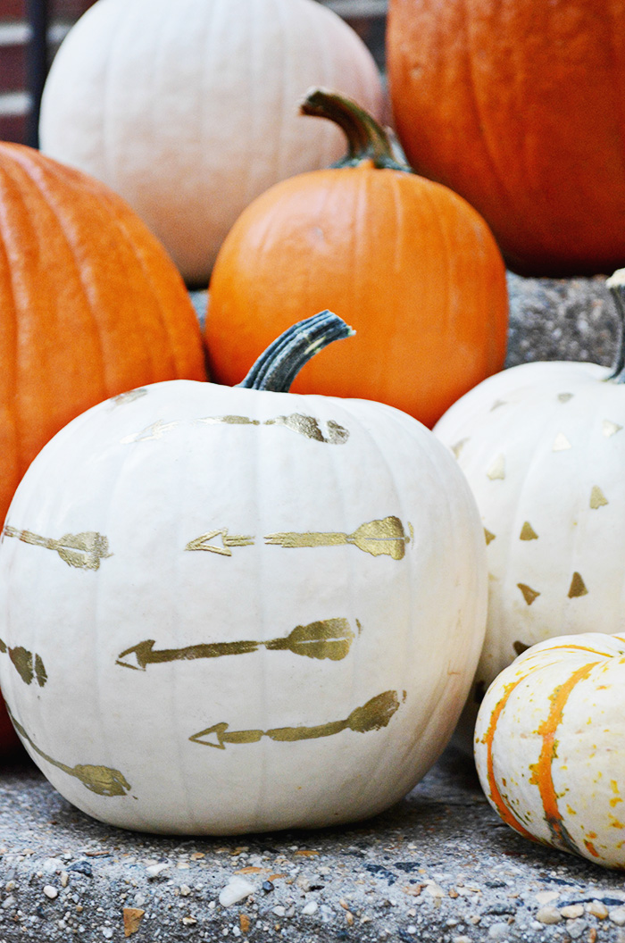 DIY embossed pumpkins