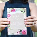 Goil foil floral wreath invitation (Basic Invite + A Joyful Riot)
