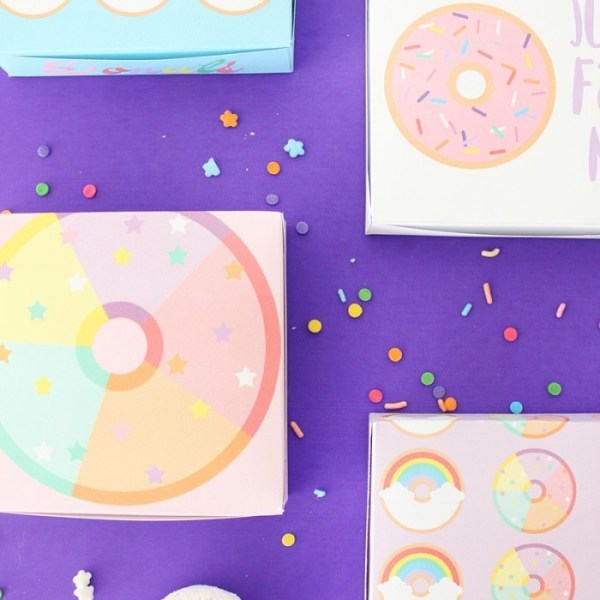 Free Printable Mini Donut Boxes