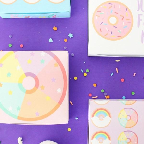 Free Printable Mini Donut Boxes