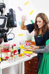 behind the scenes look at video shooting of an ice cream bar sprinkle party!