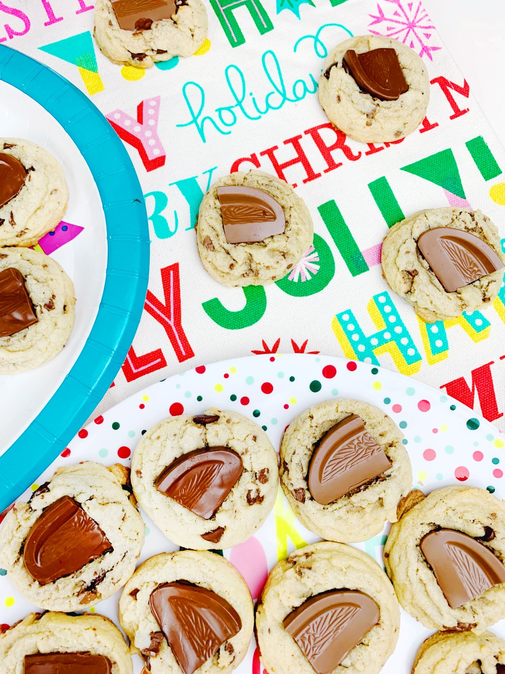 chocolate orange chocolate chip cookies. A Christmas candy favorite in everyone's favorite cookie!