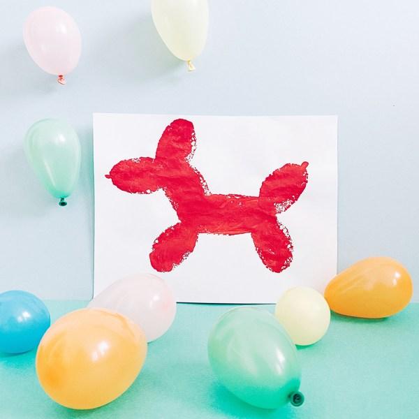 Balloon Dog Sponge Painting