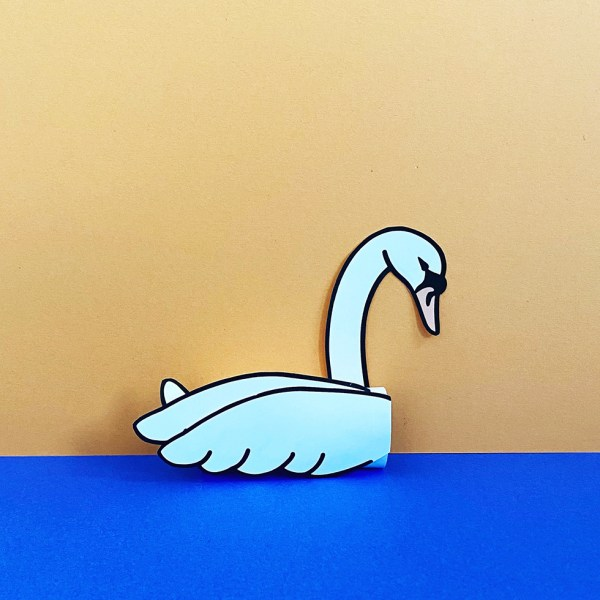 Toilet Paper Roll Swan