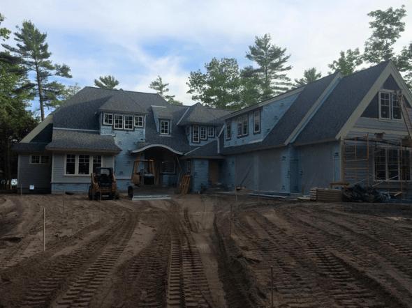 New Build 1 pic 1 driveway start
