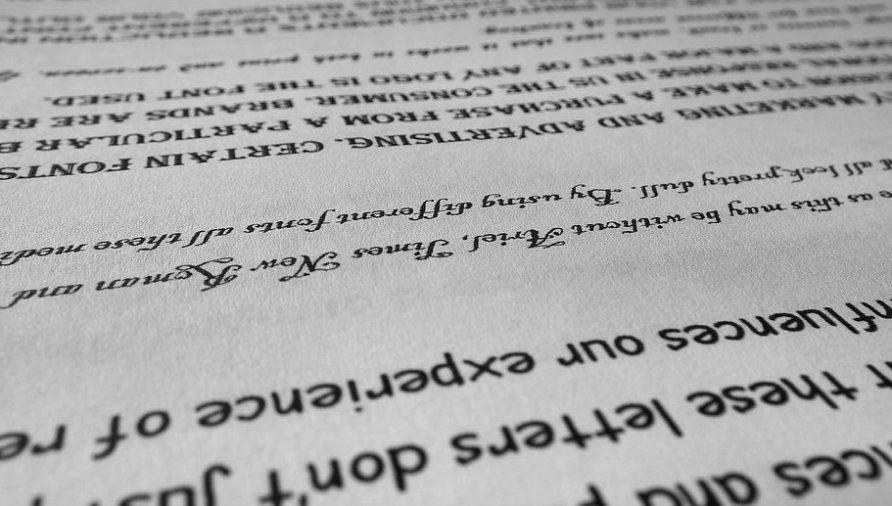 Picking a font