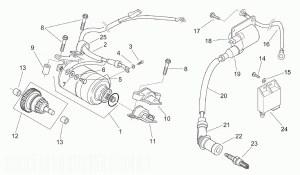 APRILIA MOJITO 125 Starter Motor  Ignition Unit  Parts