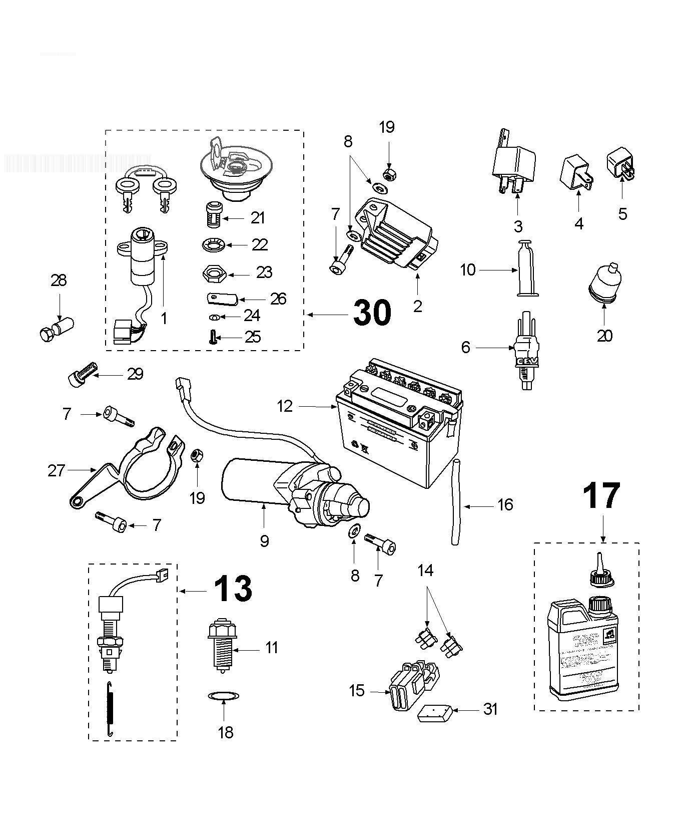 Peugeot Xr6 Electric Equipment
