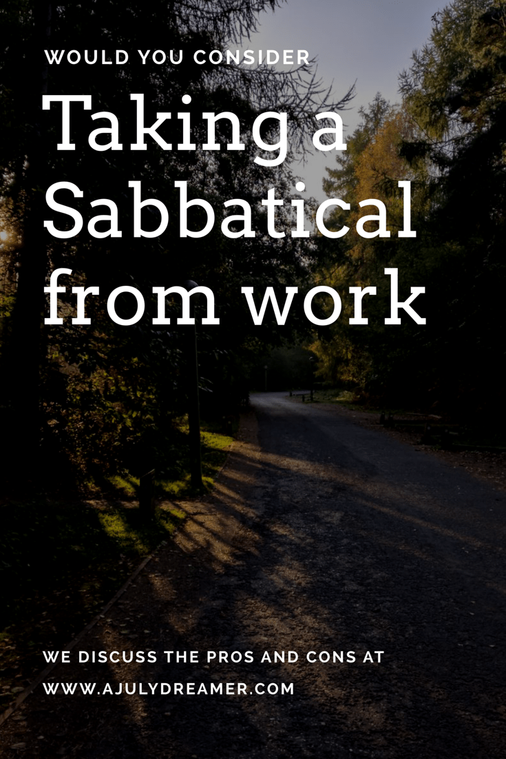sabbatical from work