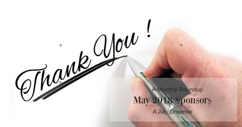 {Monthly Roundup} May 2018 Sponsors