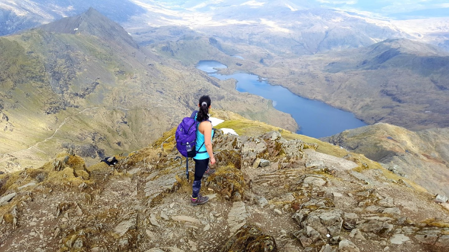 Women at the top of Mount Snowdon