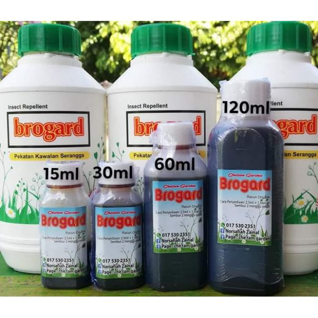 brogard organik ada racun kimia