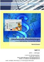 Heft 13 - Haushaltsnahe Dienstleistungen