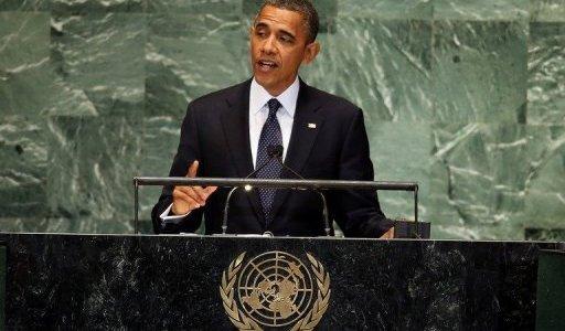 اوباما يتعهد بمنع ايران من امتلاك السلاح النووي، ويعتبر ان النظام السوري يجب ان ينتهي