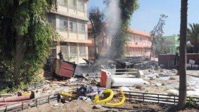 صورة انفجاران قرب هيئة الاركان بدمشق