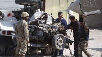 صورة عاجل..انفجار سيارة مفخخة استهدفت شركة امنية في بغداد