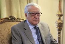 صورة الابراهيمي يدعو النظام السوري والمعارضة الى عقد اللقاءات بمقر الامم المتحدة