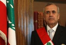صورة الرئيس اللبنانى: لن نغلق حدودنا أمام لاجئ سورى