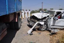 صورة اصابة سائق بجروح بليغة في حادث مروري في المثنى