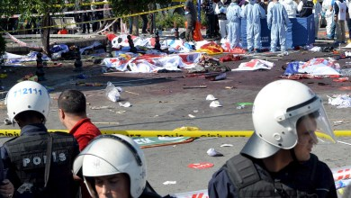 صورة عشرات القتلى والجرحى في تفجير استهدف مدينة أنقرة التركية
