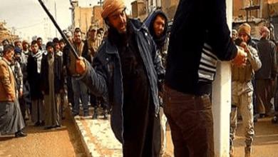 صورة داعش يجلد أثرياء تبرعوا لفقراء دون علم التنظيم