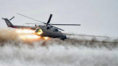 صورة طيران الجيش يقتل اربعة ارهابيين غربي الانبار