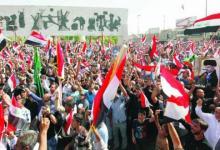 صورة العبيدي :بعد الانسحاب التكتيتي للتظاهرة سيكون لنا اصرار لمطلب تغيير مفوضية الانتخابات