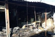 صورة اندلاع حريق وسط الكوت مخلفا اضرار  مادية ل25 محلا تجاريا