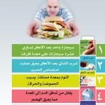 انفوجرافيك 5 عادات عليك تجنبها بعد تناول الطعام