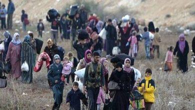 صورة نزوح 45 ألف شخص  بسبب معارك الموصل