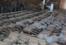 صورة ضبط معمل لتصنيع المتفجرات الكيمياوية في ايمن الموصل