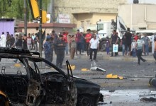 صورة تفجران انتحاريان يستهدفان مقرا للحشد العشائري شرقي الفلوجة