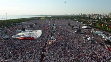 صورة تركيا /مسيرة مليونية مناهضة للرئيس التركي رجب طيب أردوغان