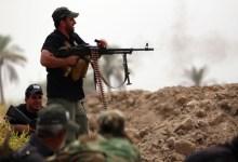 صورة الحشد الشعبي يصد هجوم لداعش غرب الموصل