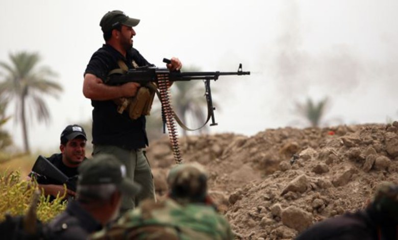 صورة الحشد الشعبي يشتبك مع عناصر من داعش في صحراء الأنبار