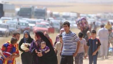 صورة اجلاء 17 عائلة نازحة من تلعفر